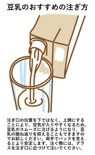豆乳の注ぎ方