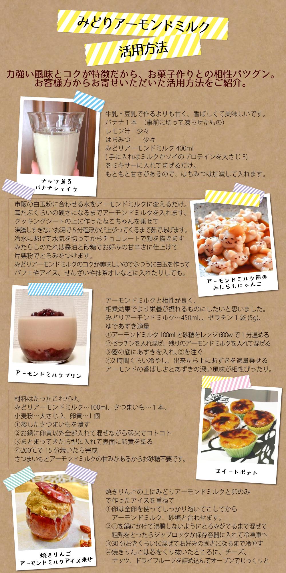 アーモンドミルク活用方法